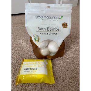 Bath fizzer and bath bombs